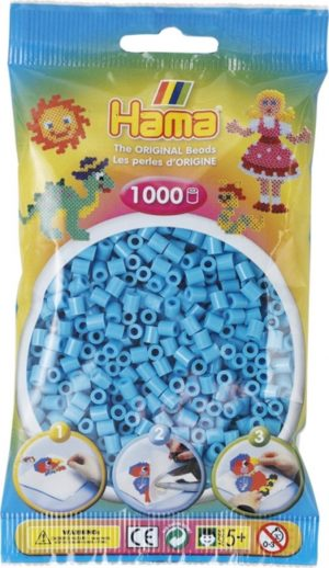 HAMA BEADS MIDI 1000 AZUL CELESTE (COLOR 49)