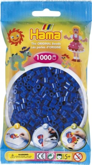 HAMA BEADS MIDI 1000 AZUL OSCURO (COLOR 08)