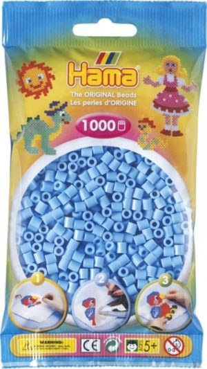 HAMA BEADS MIDI 1000 AZUL PASTEL (COLOR 46)