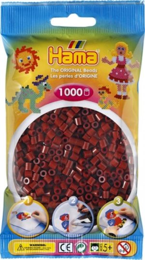 HAMA BEADS MIDI 1000 BORGOÑA CAOBA (COLOR 30)