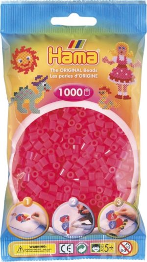 HAMA BEADS MIDI 1000 FUCSIA NEON (COLOR 32)