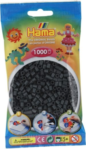 HAMA BEADS MIDI 1000 GRIS OSCURO (COLOR 71)