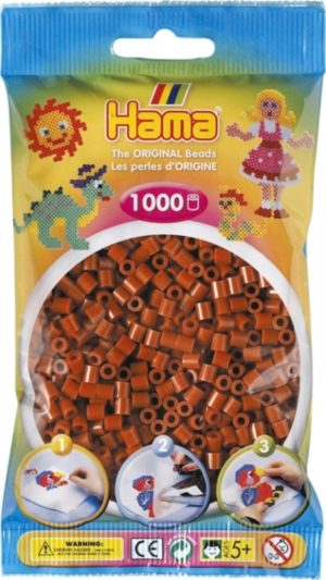HAMA BEADS MIDI 1000 MARRON CLARO ROJIZO (COLOR 20)