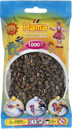 HAMA BEADS MIDI 1000 MARRON (COLOR 12)
