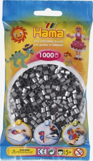 HAMA BEADS MIDI 1000 PLATA (COLOR 62)