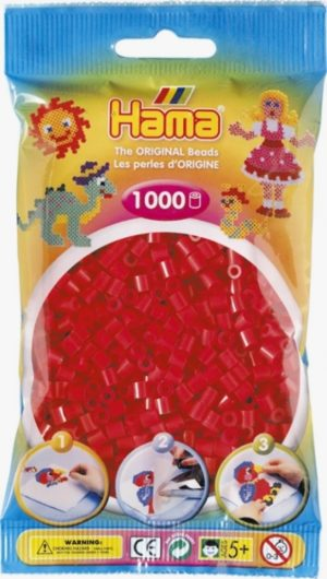 HAMA BEADS MIDI 1000 ROJO (COLOR 05)