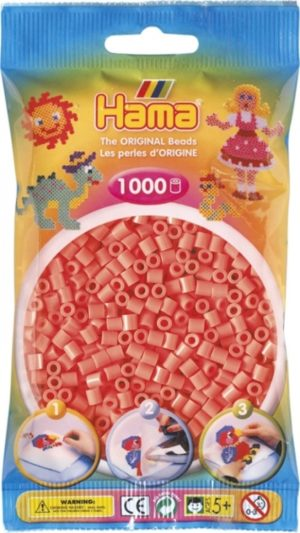 HAMA BEADS MIDI 1000 ROJO PASTEL SALMON (COLOR 44)