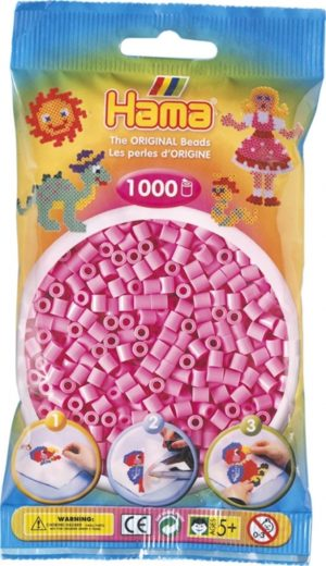 HAMA BEADS MIDI 1000 ROSA PASTEL (COLOR 48)
