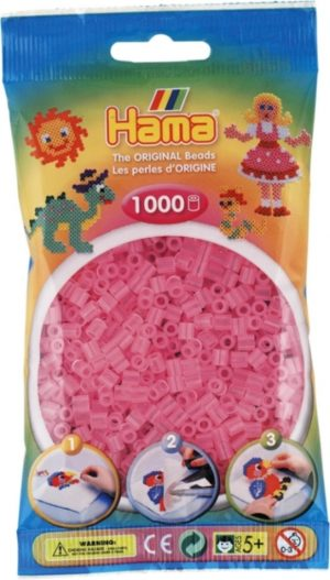 HAMA BEADS MIDI 1000 ROSA TRANSLUCIDO (COLOR 72)