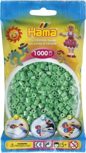 HAMA BEADS MIDI 1000 VERDE CLARO (COLOR 11)