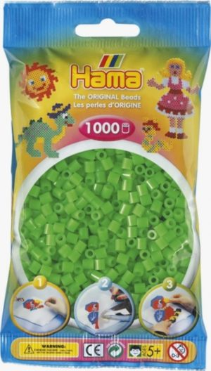 HAMA BEADS MIDI 1000 VERDE FLOURESCENTE (COLOR 42)