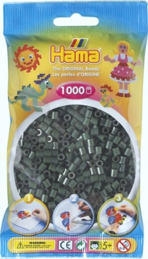 HAMA BEADS MIDI 1000 VERDE OLIVA (COLOR 28)