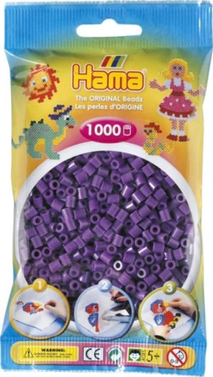 HAMA BEADS MIDI 1000 VIOLETA (COLOR 07)