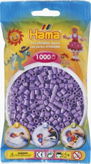 HAMA BEADS MIDI 1000 VIOLETA PASTEL (COLOR 45)