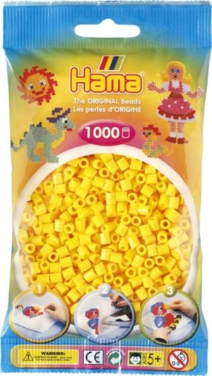 HAMA BEADS MIDI 1000 AMARILLO (COLOR 03)