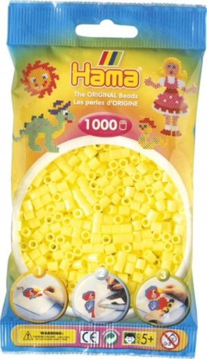 HAMA BEADS MIDI 1000 AMARILLO PASTEL (COLOR 43)
