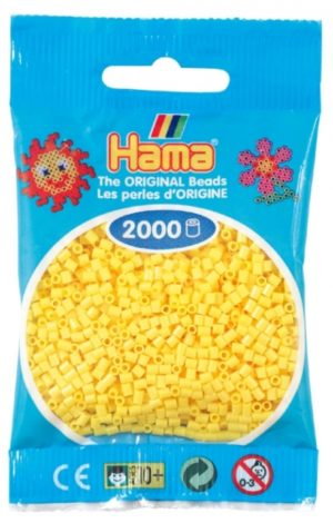 HAMA BEADS MINI 2000 AMARILLO (COLOR 03)