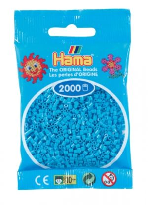 HAMA BEADS MINI 2000 AZUL CELESTE (COLOR 49)