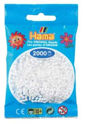 HAMA BEADS MINI 2000 BLANCO (COLOR 01)
