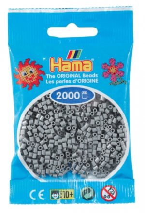 HAMA BEADS MINI 2000 GRIS (COLOR 17)