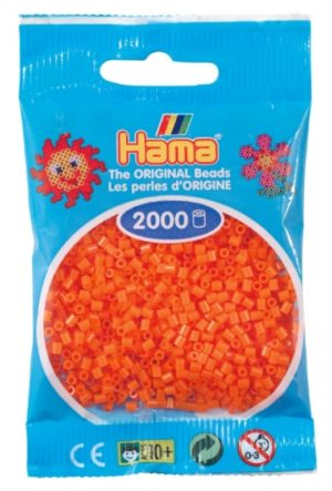 HAMA BEADS MINI 2000 NARANJA (COLOR 04)