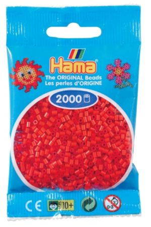 HAMA BEADS MINI 2000 ROJO (COLOR 05)