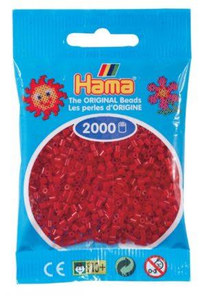 HAMA BEADS MINI 2000 ROJO OSCURO NAVIDAD (COLOR 22)