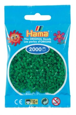 HAMA BEADS MINI 2000 VERDE (COLOR 10)