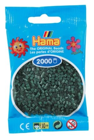 HAMA BEADS MINI 2000 VERDE OLIVA (COLOR 28)