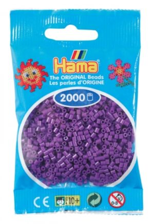 HAMA BEADS MINI 2000 VIOLETA (COLOR 07)