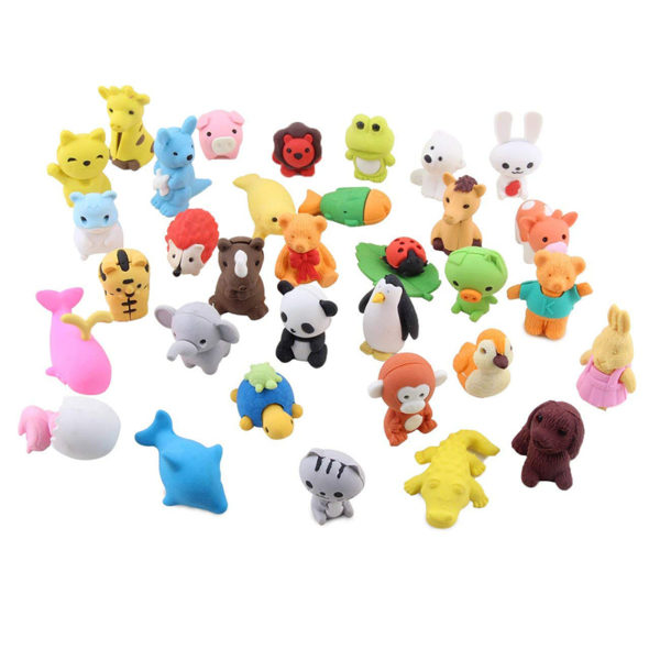 Gomas de borrar puzzle animalitos