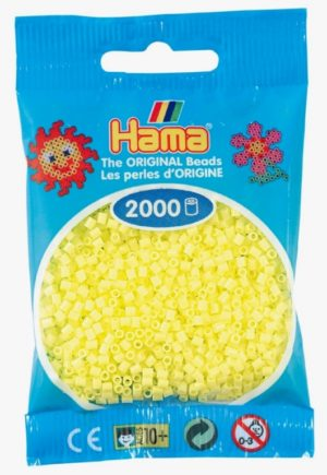 HAMA BEADS MINI 2000 AMARILLO PASTEL (COLOR 43)