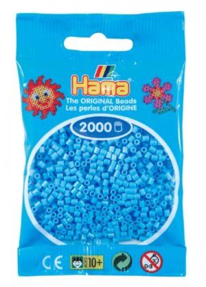 HAMA BEADS MINI 2000 AZUL PASTEL  (COLOR 46)