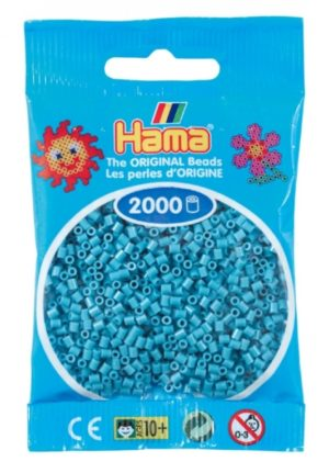 HAMA BEADS MINI 2000 AZUL TURQUESA (COLOR 31)