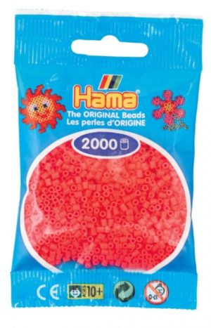 HAMA BEADS MINI 2000 CEREZA FLUORESCENTE (COLOR 33)