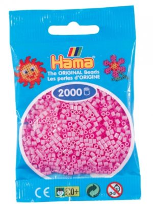 HAMA BEADS MINI 2000 ROSA PASTEL (COLOR 48)