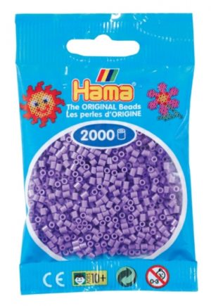 HAMA BEADS MINI 2000 VIOLETA PASTEL (COLOR 45)