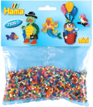 HAMA BEADS MINI 7500 MIX 47 COLORES